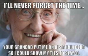 Image of: Fighting Grandma Meme Sayingimagescom Grandma Meme Is It Funny Or Offensive