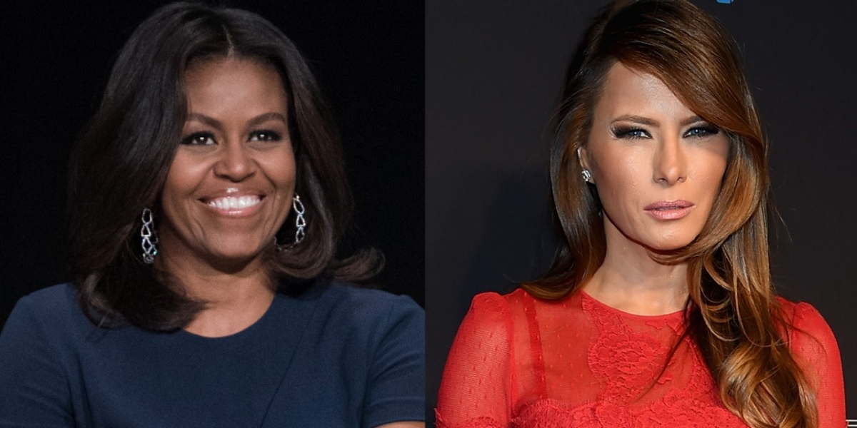michelle and melania cartoon explodes on twitter