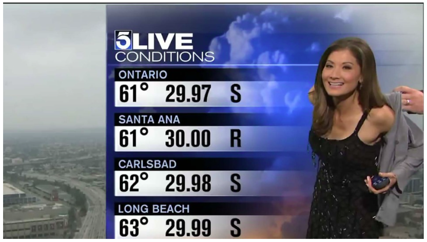Weather Lady Forced to Put on Sweater