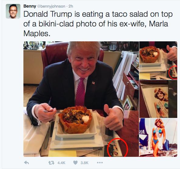 Taco On Marla photo trump tweets tacos for cinco de mayo