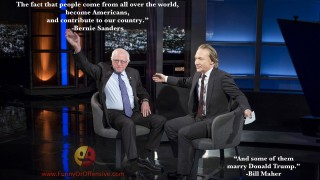 Bernie Sanders and Bill Maher