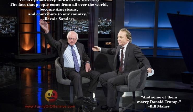 Bernie Sanders and Bill Maher