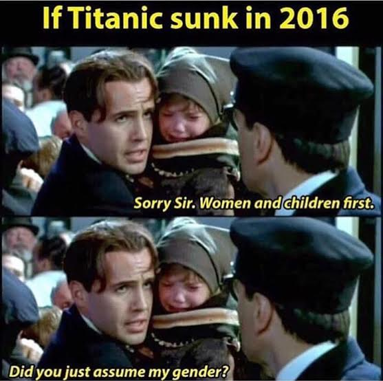 Off 2016 Funny Is It Funny Or Offensive Titanic Gender Meme Is It Funny Or Offensive