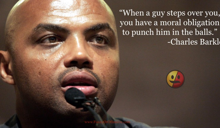 """Charles Barkley """"Punch Him in the Balls"""""""
