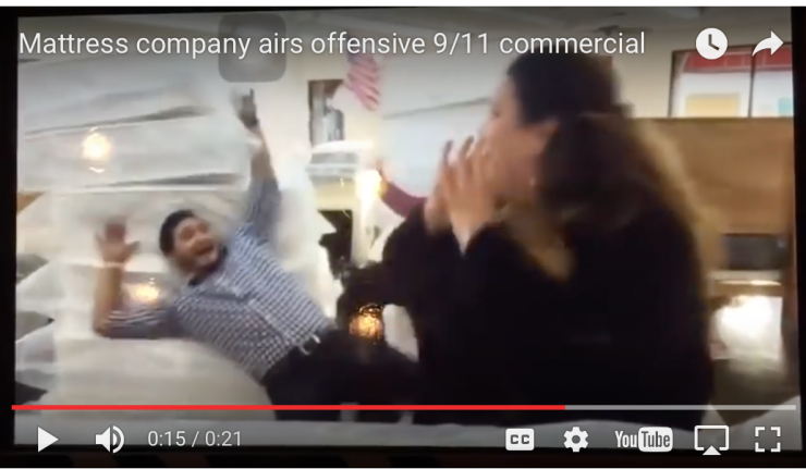 mattress company blasted for tasteless 9 11 commercial
