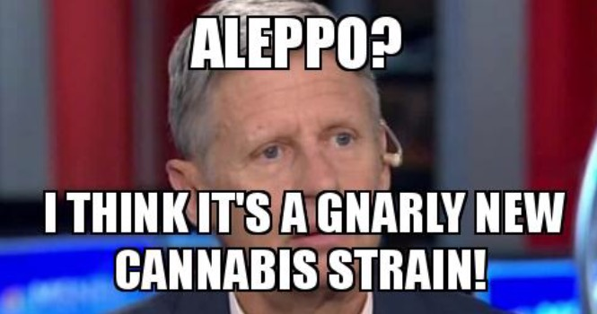 image2 gary johnson on aleppo is it funny or offensive?
