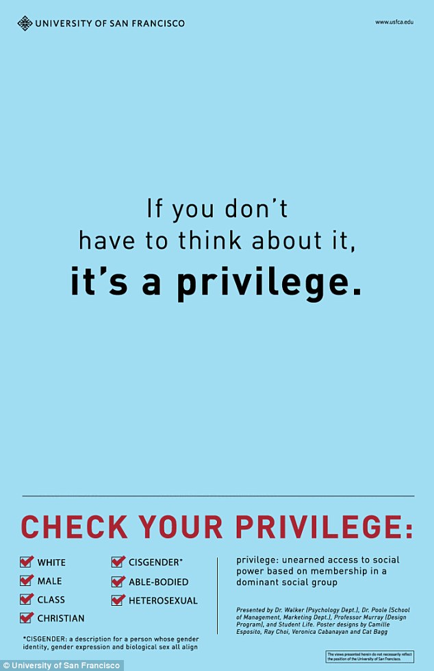 """Check Your Privilege"" Posters Outrage College Students"