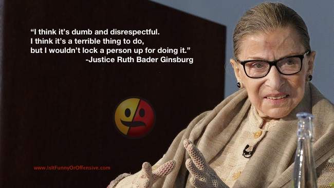 Justice Ginsburg on NFL Players Kneeling During National Anthem