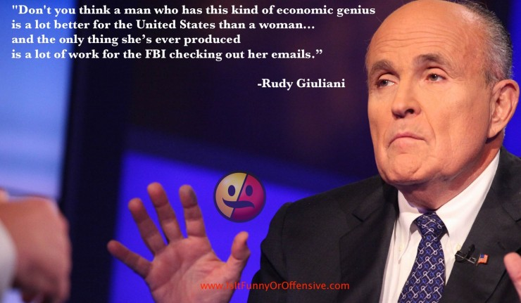 Rudy Giuliani - Trump Better Than a Woman