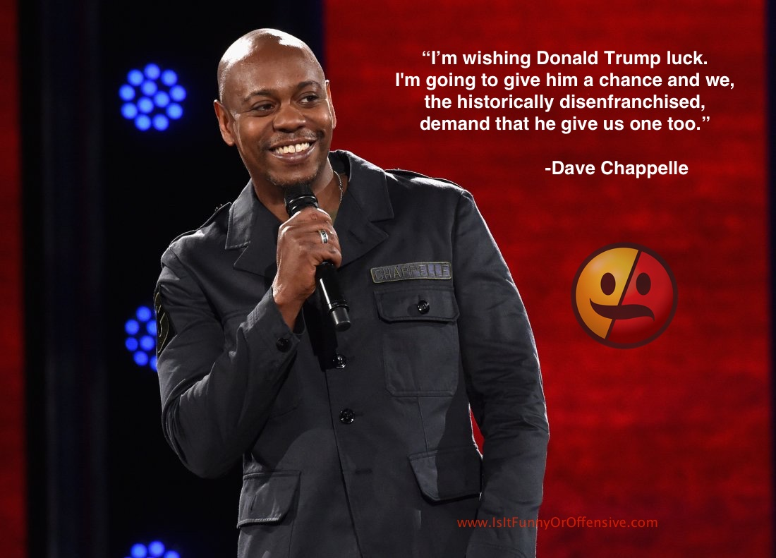 Dave Chappelle on President Donald Trump