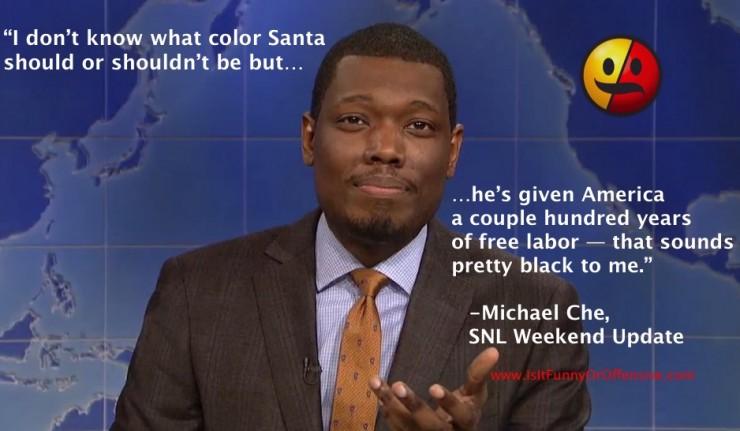 Michael Che on Black Santa