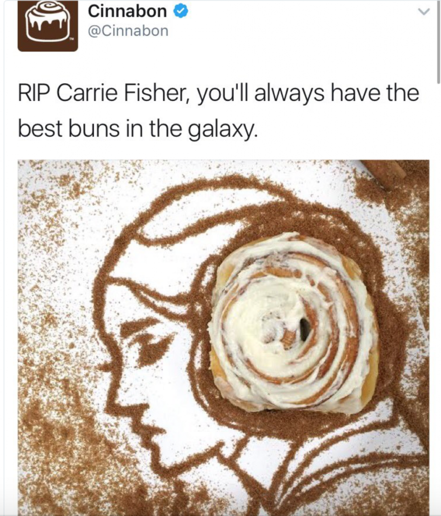 Cinnabon and Steve Martin Publicly Shamed For Carrie Fisher Tributes