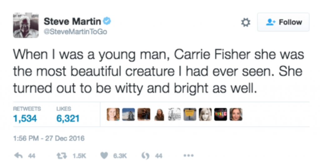 Cinnabon and Steve Martin Publicly Shamed For Carrie Fisher Tribute
