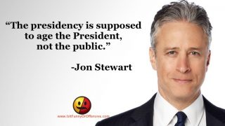 Jon Stewart on the Presidency