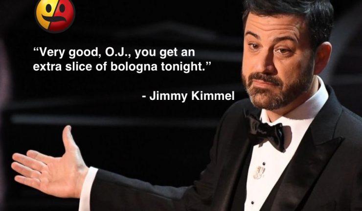 Jimmy Kimmel O.J. Simpson Oscar Joke