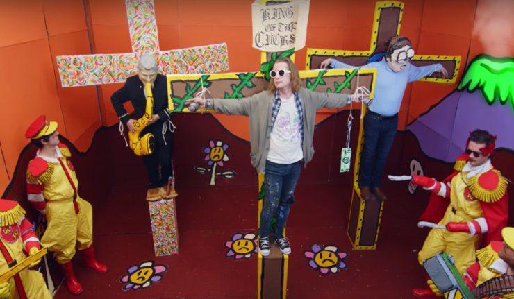 Macaulay Culkin as Kurt Cobain Gets Crucified In New Father John Misty Video