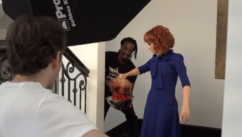 Kathy Griffin Holds President Trump's Severed Head In Controversial Photo
