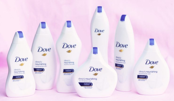 Dove Body Wash Bottles Women's Bodies