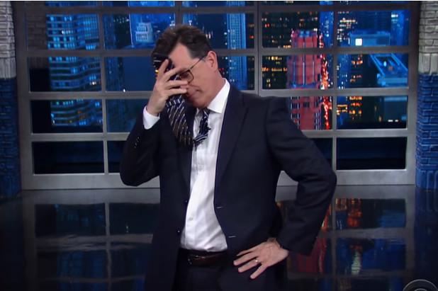 "Stephen Colbert ""Homophobic"" Trump BJ Joke Triggers Outrage"