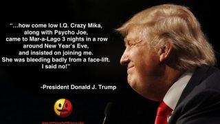 "President Trump Mocks ""Morning Joe"" Hosts on Twitter"