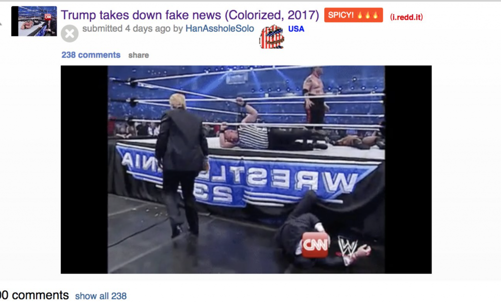 President Trump Tweets Video Of Himself Beating Up CNN WWE Style