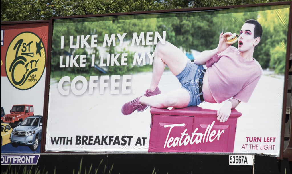 Gay-friendly New Hampshire Coffee Shop Debuts Not-So-Bland Billboard