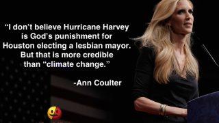 Ann Coulter on Hurricane Harvey