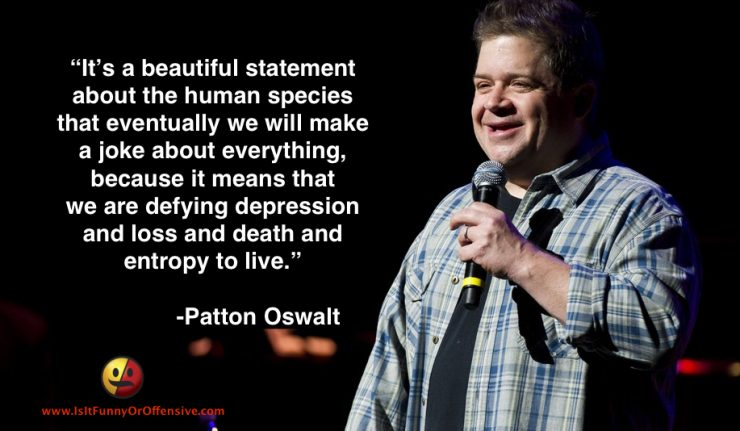 Patton Oswalt on the Power of Humor