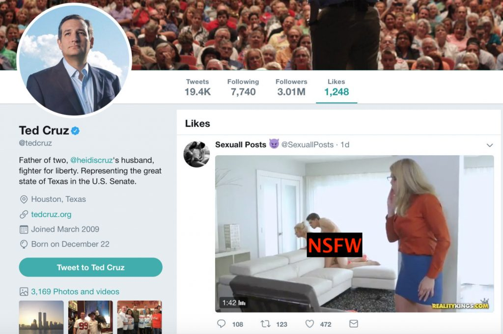 Ted Cruz Likes Porn Tweet - Twitter's 17 Most Savage Reactions