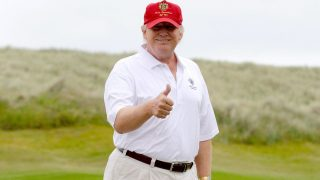 Donald Trump Hits Hillary Clinton In The Head With A Golf Ball