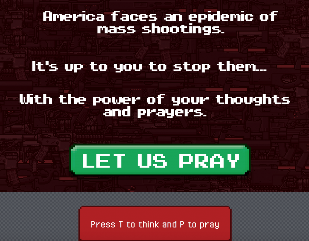 Online Game 'Thoughts & Prayers' Takes On Gun Control Debate