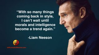 Liam Neeson on Morals and Intelligence