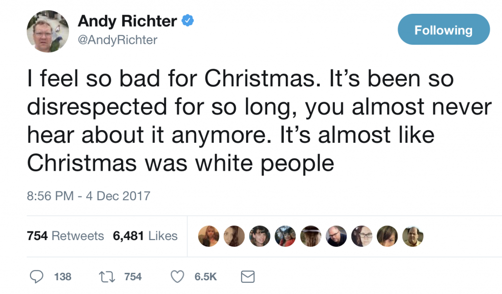 Andy Richter on Christmas and White People