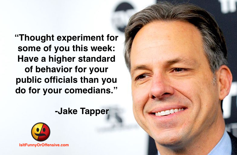 Jake Tapper on Standards of Behavior