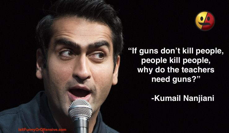 Kumail Nanjiani on Teachers and Guns