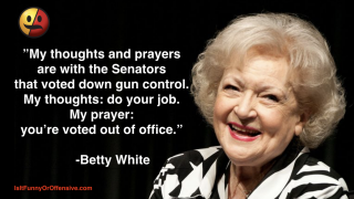 Betty White on Gun Control