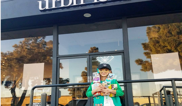 Girl Scout Sells 312 Boxes Of Cookies Outside Pot Dispensary