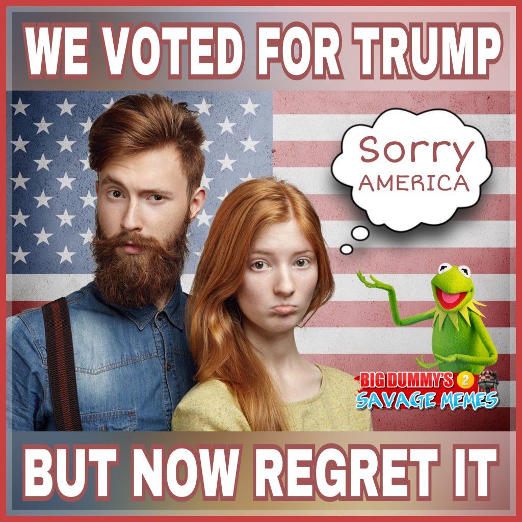 TRUMPTARDS REGRET MEME - Is It Funny or Offensive?