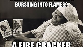 What do you call a white guy on fire?