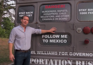 Gubernatorial Candidate Tours Georgia In Deportation Bus