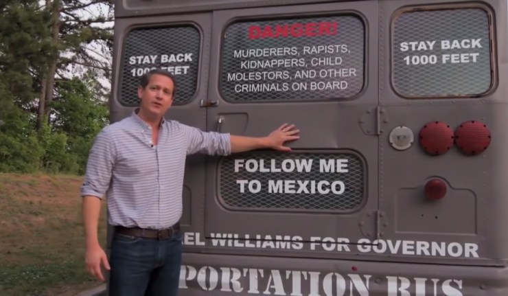 Gubernatorial Candidate Tours Georgia In Deportation Bus