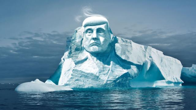 Climate Advocacy Group Wants Trump's Face Carved Onto Melting Iceberg