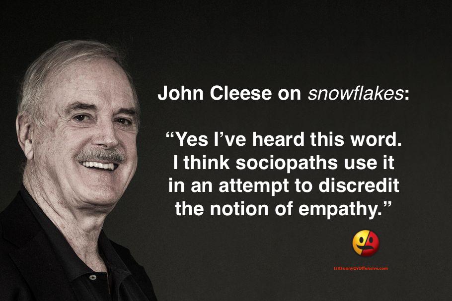 John Cleese on 'Snowflakes'