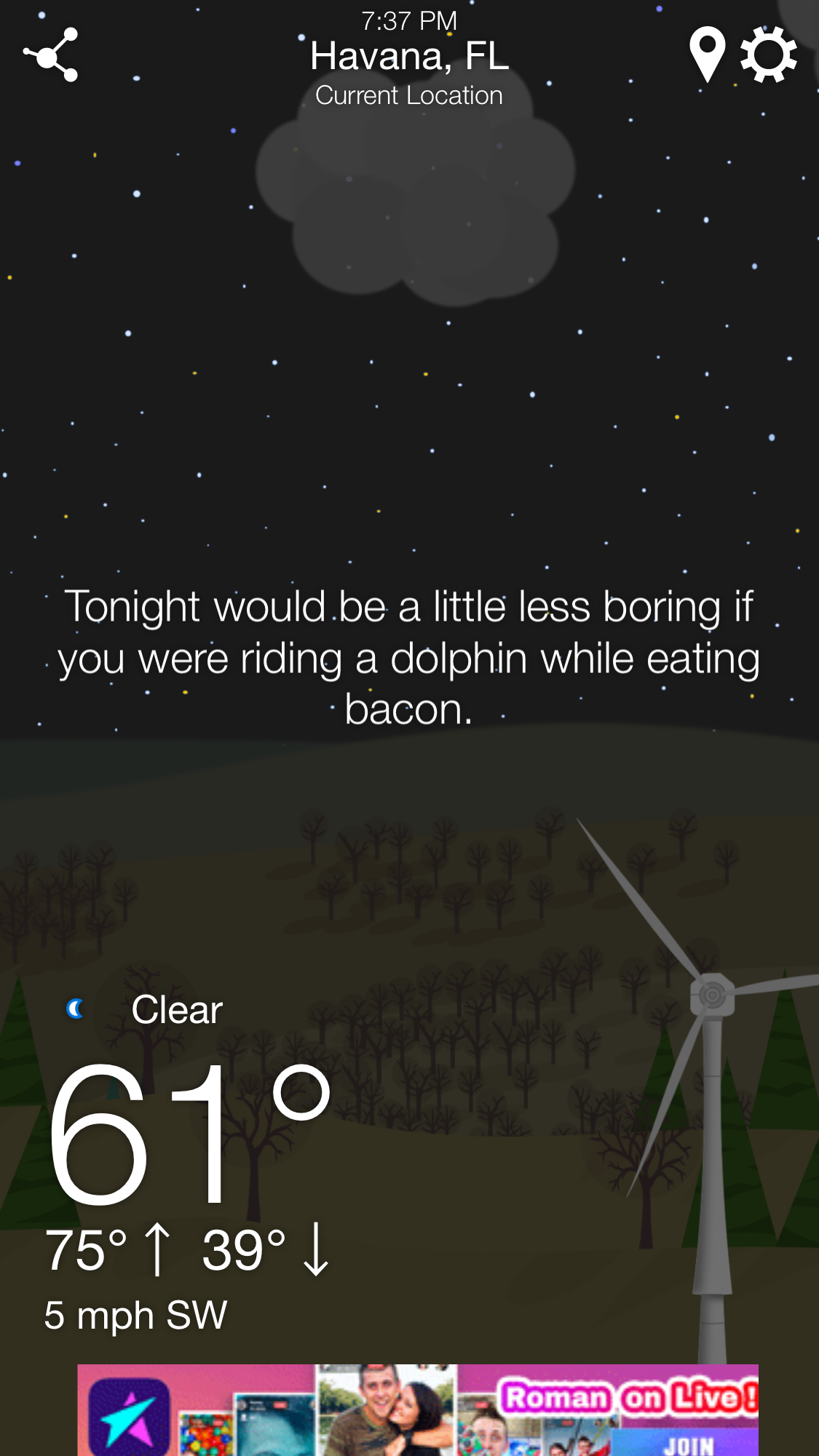 WTForecast App Gives You Weather The Way No Meteorologist Would