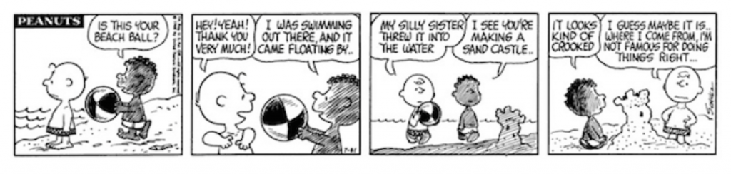 The Story of How Franklin Befriended the Peanuts Gang 50 Years Ago