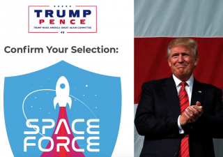 Trump Campaign Wants To Sell You Space Force Swag