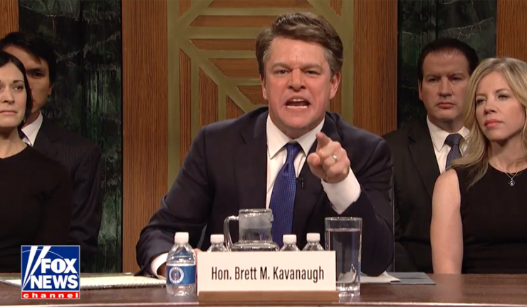 Matt Damon As Brett Kavanaugh