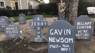 Democrat Tombstones Scare Up Controversy in California Neighborhood