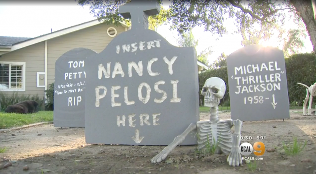 Hillary Clinton, Nancy Pelosi Halloween Graveyard Decorations Pop Up In Santa Clarita