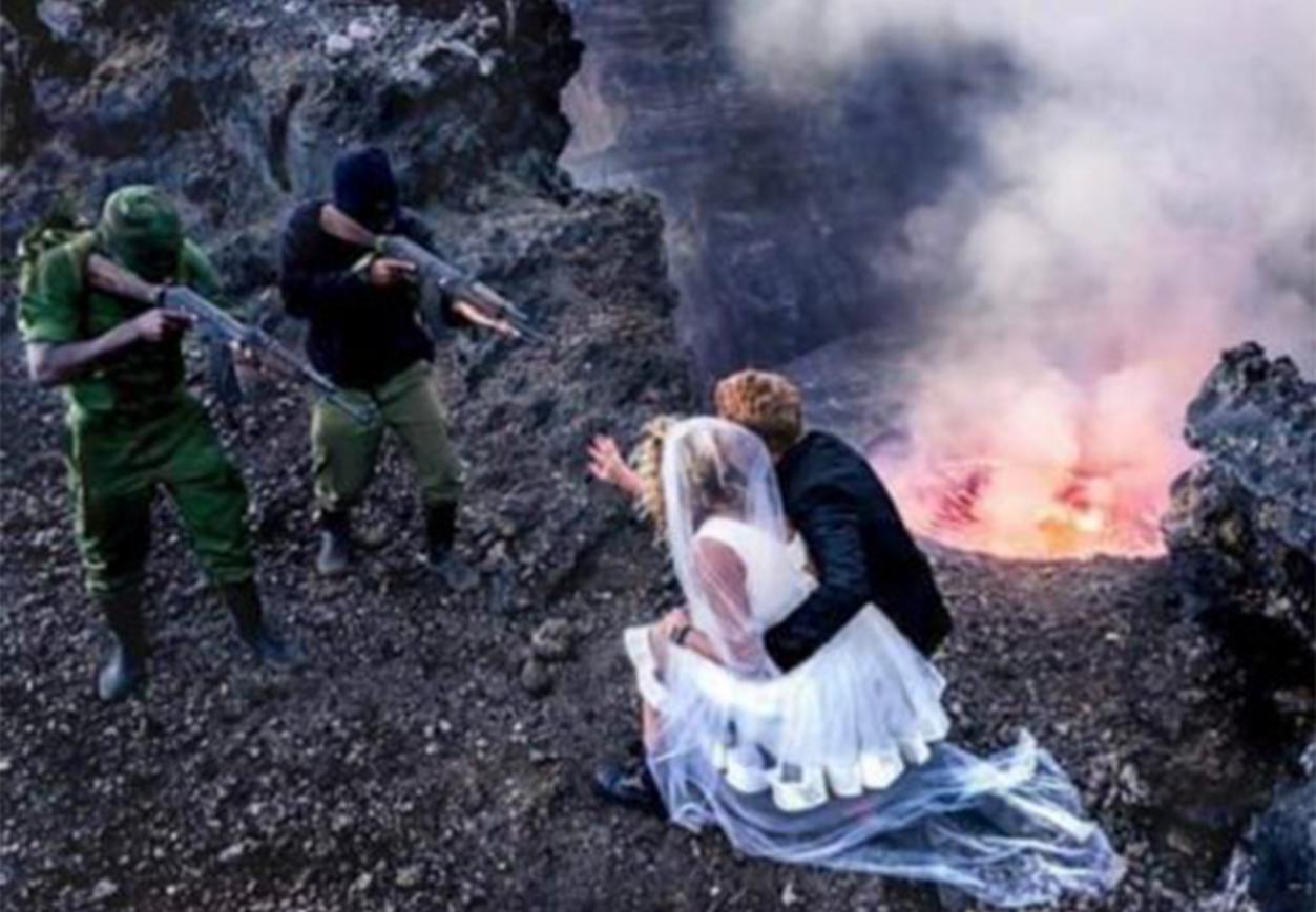 gunpoint Wedding photos Congo